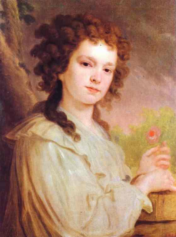 Portrait Of O K Filippova 1790 | Vladimir Borovikovsky | oil painting
