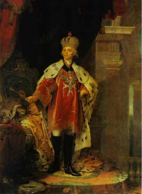 Portrait Of Paul I Emperor Of Russia 1800 | Vladimir Borovikovsky | oil painting