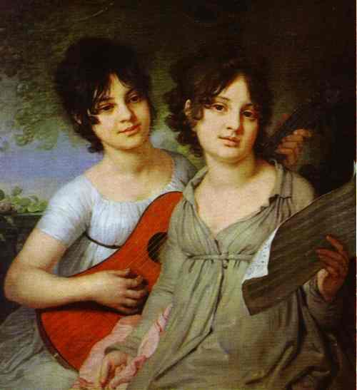 Portrait Of Princess A G Gagarina And Princess V G Gagarina 1802 | Vladimir Borovikovsky | oil painting