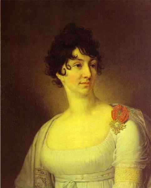Portrait Of S A Rayevskaya 1813 | Vladimir Borovikovsky | oil painting