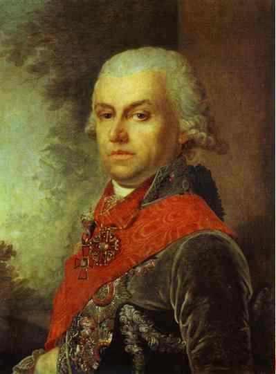 Portrait Of D P Troschinsky 1799 | Vladimir Borovikovsky | oil painting