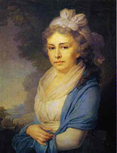Portrait Of E I Nekludova 1798 | Vladimir Borovikovsky | oil painting