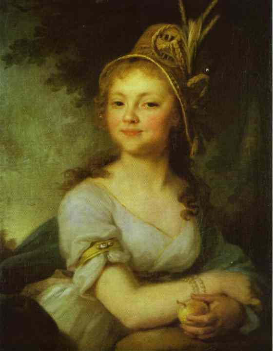 Portrait Of E N Arsenyeva 1796 | Vladimir Borovikovsky | oil painting