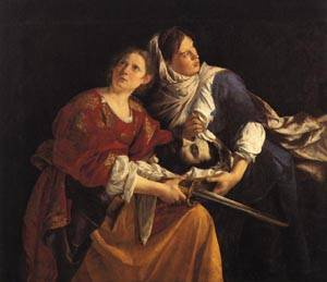 Judith and Her Maidservant with the Head of Holofernes 1621 1624 | Orazio Gentileschi | oil painting
