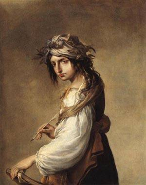 Lucrezia as the Personification of Poetry 1640 | Salvator Rosa | oil painting