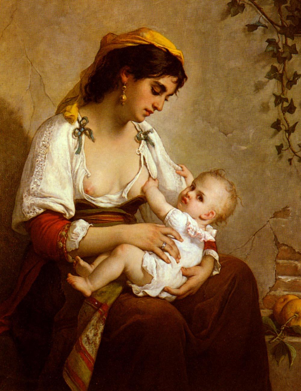 La Jeune Mere | Wagner Jules Salles | oil painting