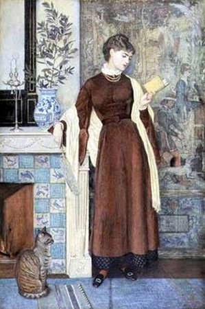 At Home A Portrait | Walter Crane | oil painting