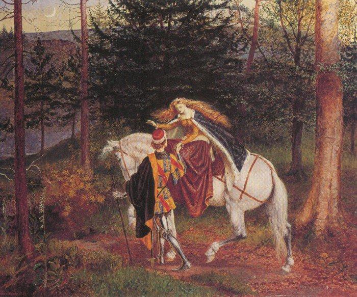 Belle Dame Sans Merci | Walter Crane | oil painting