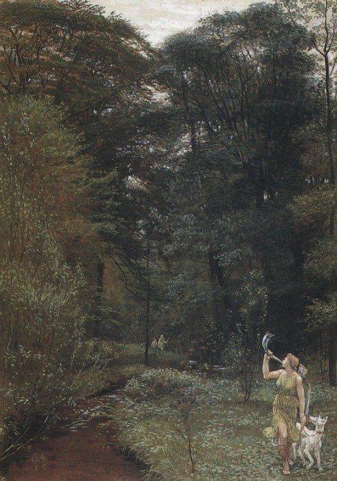 Diana | Walter Crane | oil painting