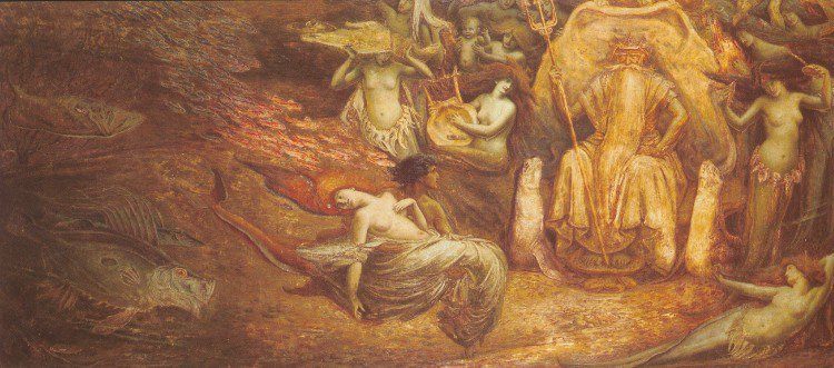 King Neptune | Walter Crane | oil painting