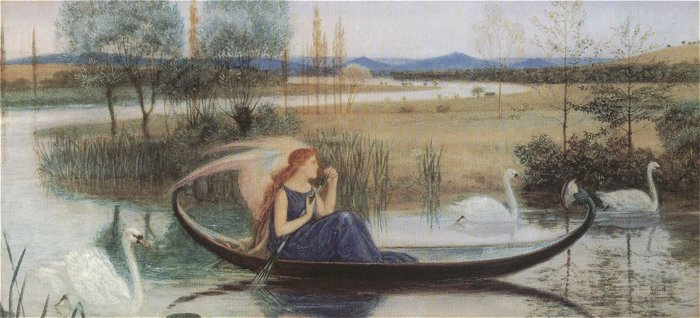 My Soul Is An Enchanted Boat (Detail) | Walter Crane | oil painting