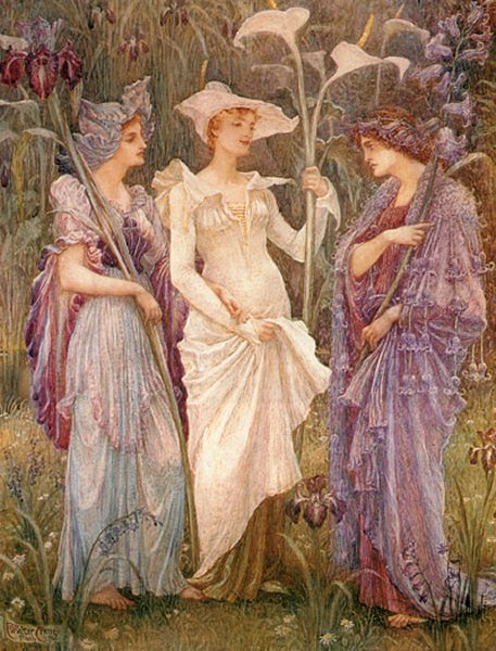 Signs Of Spring | Walter Crane | oil painting