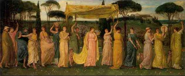 The Advent Of Spring | Walter Crane | oil painting