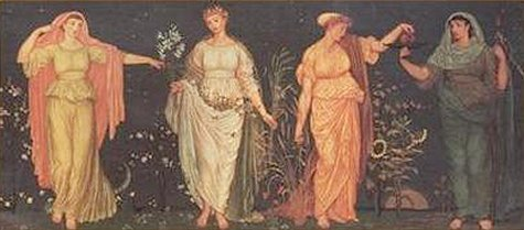 The Four Seasons | Walter Crane | oil painting