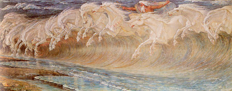 The Horses Of Neptune | Walter Crane | oil painting