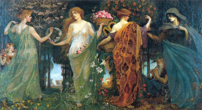 The Masque Of The Four Seasons | Walter Crane | oil painting
