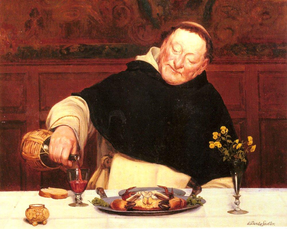 The Monks Repast | Walter Dendy Sadler | oil painting