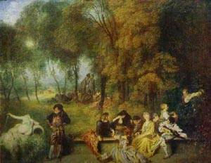 A Garden Party 1719-21 | Jean Antoine Watteau | oil painting