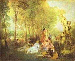A Love Festival 1717 | Jean Antoine Watteau | oil painting