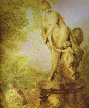 A Love Festival Detail 2 1717 | Jean Antoine Watteau | oil painting