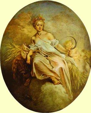 Ceres (Summer) 1712 | Jean Antoine Watteau | oil painting