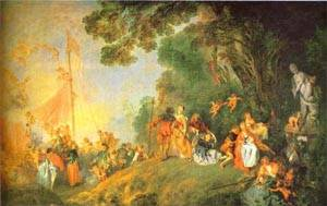 Embarkation For Cythera 1718-19 | Jean Antoine Watteau | oil painting