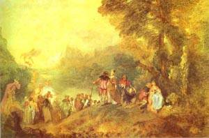 Embarkation For Cythera Or The Pilgrimage To Cythera 1717 | Jean Antoine Watteau | oil painting