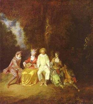 Happy Pierrot | Jean Antoine Watteau | oil painting
