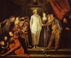 Italian Comedians 1720 | Jean Antoine Watteau | oil painting