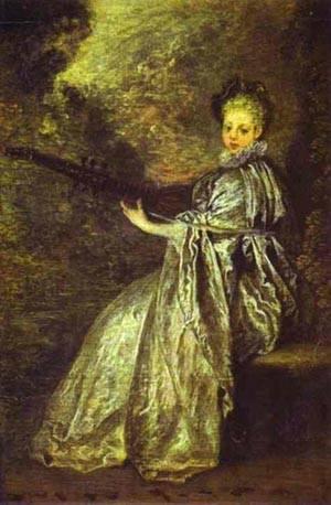 La Finette (The Delicate Musician) | Jean Antoine Watteau | oil painting
