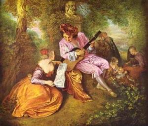 La Gamme Damour 1712 | Jean Antoine Watteau | oil painting