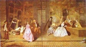 Lenseigne De Gersaint 1721 | Jean Antoine Watteau | oil painting
