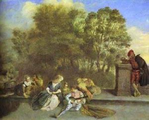 Rcration Italienne 1715 | Jean Antoine Watteau | oil painting