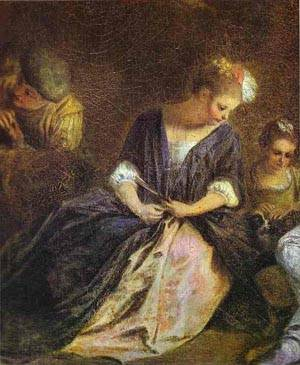 Rcration Italienne Detail 1715 | Jean Antoine Watteau | oil painting
