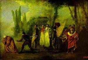 Satire On Physicians 1708-1709 | Jean Antoine Watteau | oil painting
