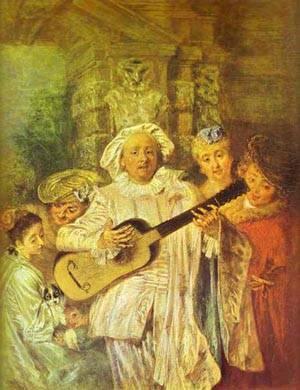 Sous Un Habit De Mezetin 1717 | Jean Antoine Watteau | oil painting