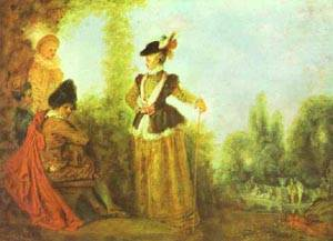 The Adventuress 1717 | Jean Antoine Watteau | oil painting
