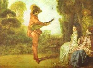 The Seducer 1712 | Jean Antoine Watteau | oil painting