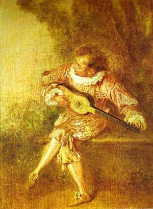 The Serenader 1715 | Jean Antoine Watteau | oil painting