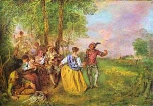 The Shepherds 1717-19 | Jean Antoine Watteau | oil painting