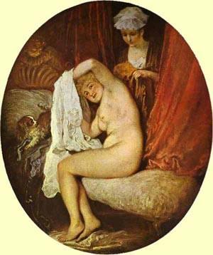 The Toilet 1717 | Jean Antoine Watteau | oil painting
