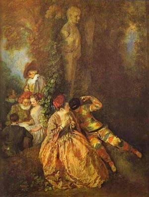 Voulez Vous Triompher Des Belles 1716 | Jean Antoine Watteau | oil painting