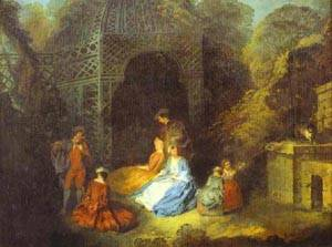 Watteau Or His Circle The Flautist | Jean Antoine Watteau | oil painting
