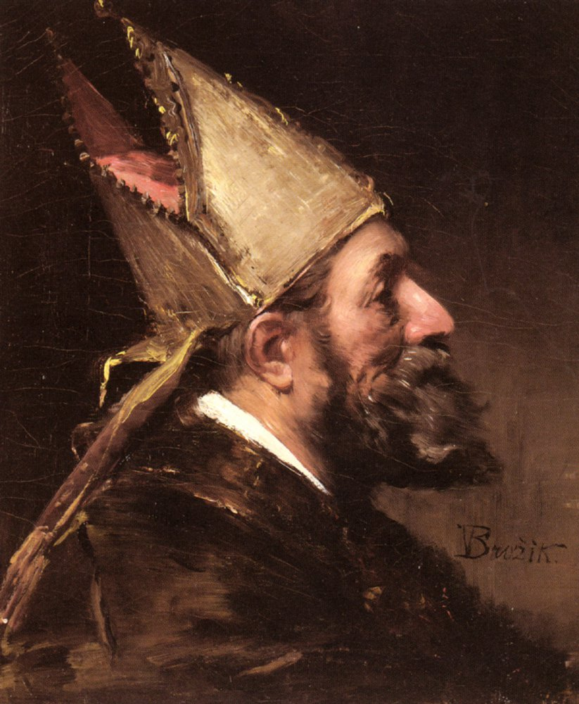 A Bishop | Wenceslas Vacslav Brozik | oil painting