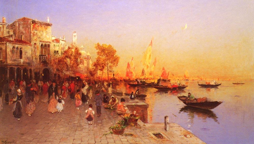 An Italian Port | Wilhelm Von Gegerfelt | oil painting