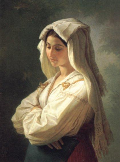 Bildnis Einer Italienerin | Wilhelm Von Kaulbach | oil painting