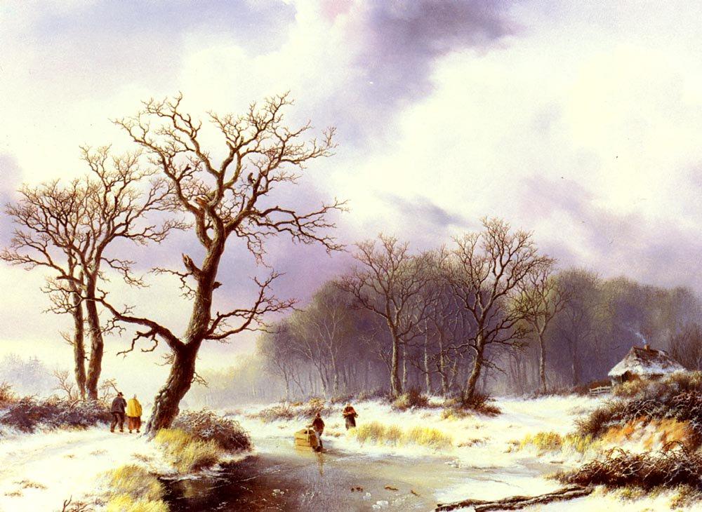 A Winter Landscape | Willem Bodemann | oil painting