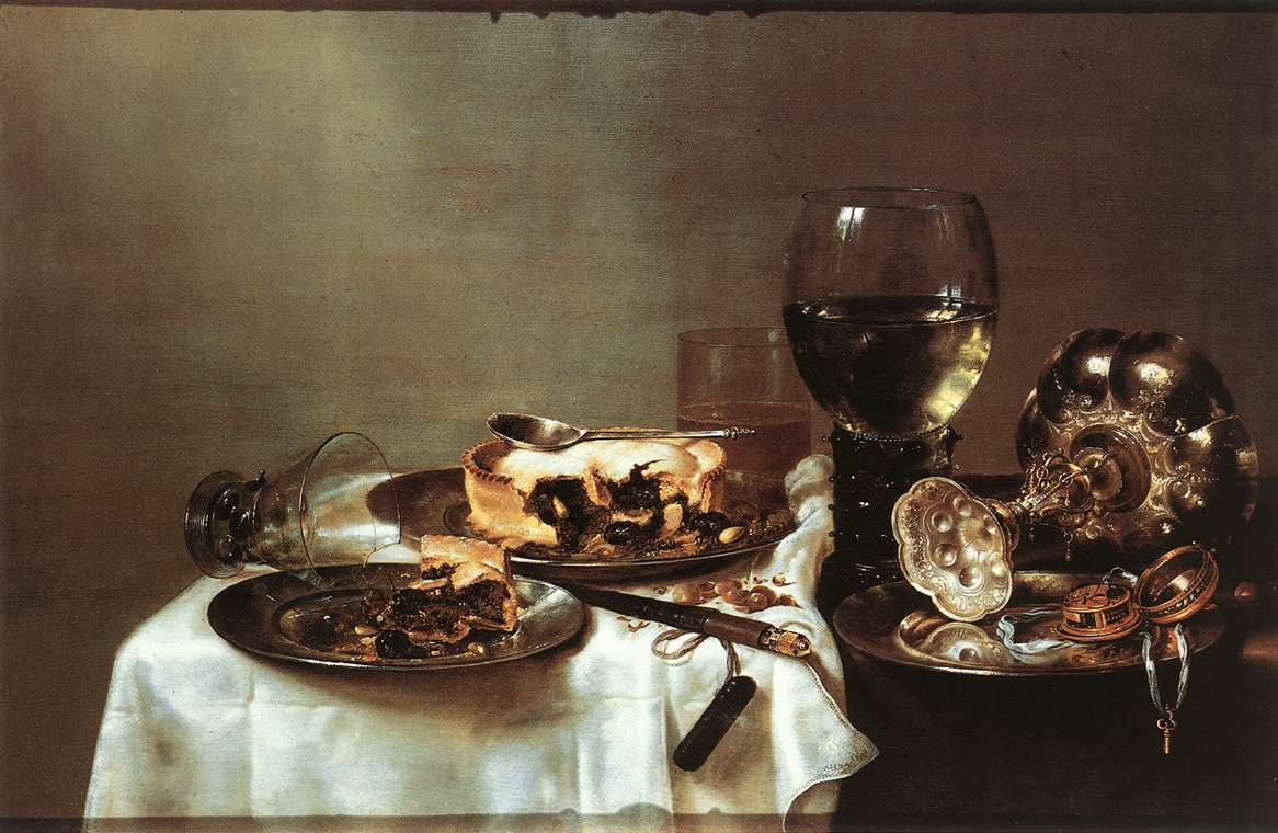 Breakfast Table With Blackberry Pie 1631 | Willem Claesz Heda | oil painting
