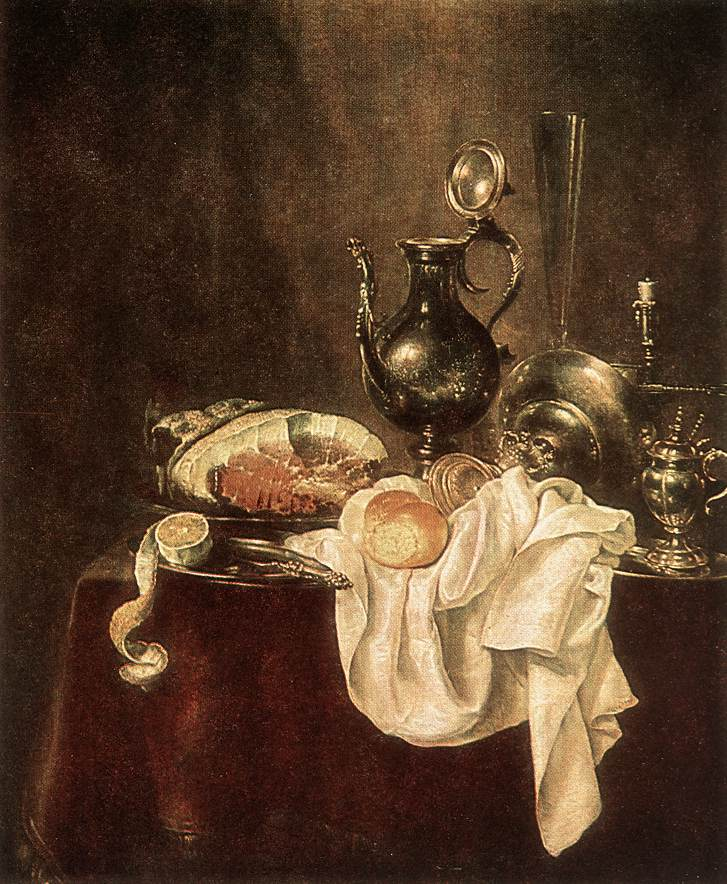 Ham And Silverware 1649 | Willem Claesz Heda | oil painting