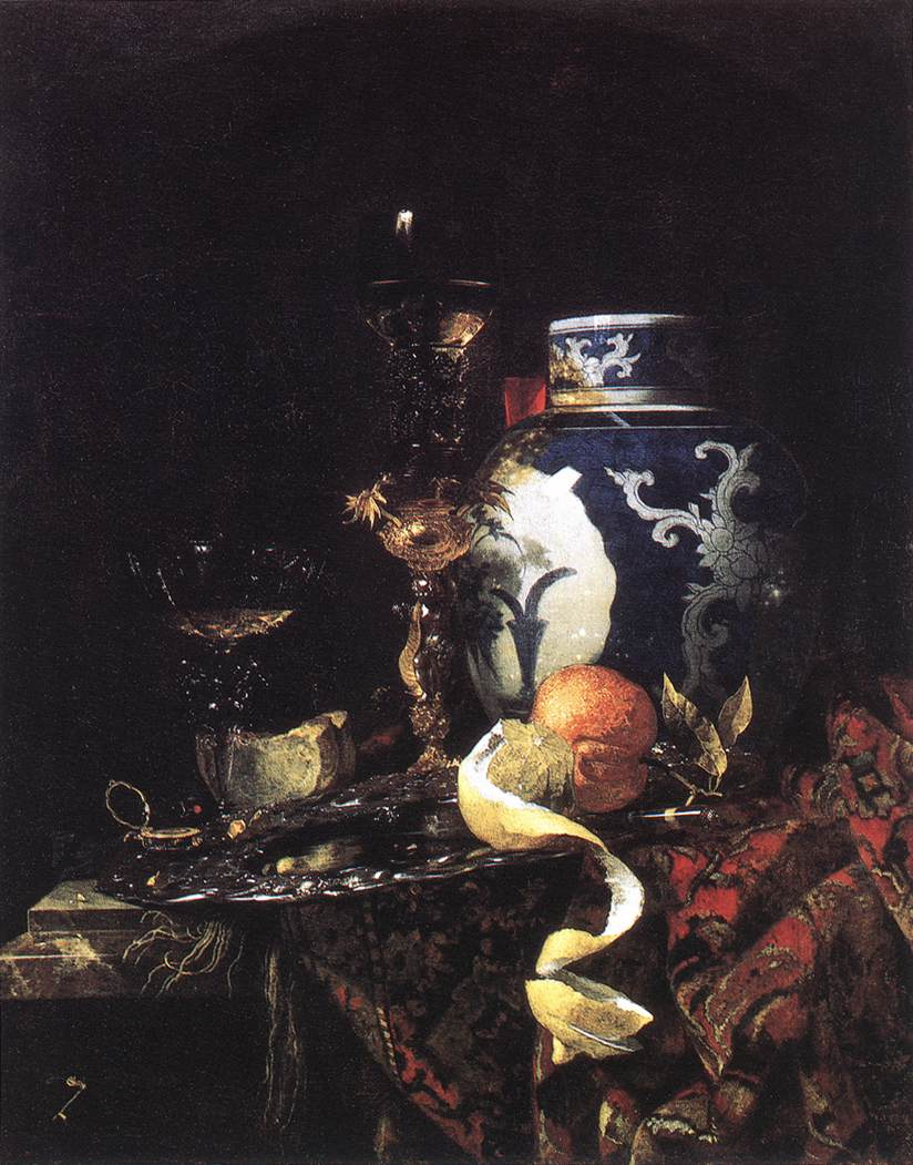 Still Life With A Late Ming Ginger Jar 1669 | Willem Kalf | oil painting